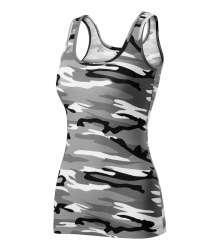 Camo Triumph T-Shirt Damen camouflage grau M