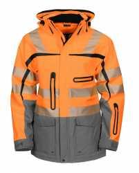 WIND- UND WASSERDICHTER 3-LAGEN HARDSHELL PARKA EN ISO 2KLASSE 3/2 Orange M